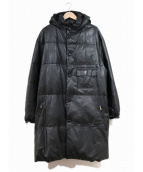 YohjiYamamoto pour homme(ヨウジヤマモトプールオム)の古着「レザーダウンコート」|ブラック