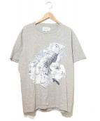 Maison Martin Margiela(メゾンマルタンマルジェラ)の古着「タイガープリントTシャツ」 グレー