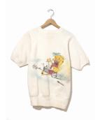 VINTAGE(ヴィンテージ/ビンテージ)の古着「[古着]ヴィンテージエアブラシS/Sスウェット」|ホワイト