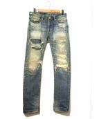 Hysteric Glamour(ヒステリックグラマー)の古着「RSM加工デニムパンツ」 インディゴ