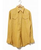 Wrangler(ラングラー)の古着「[古着]ヴィンテージウエスタンシャツ」|イエロー