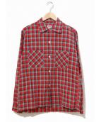 TOWN CRAFT(タウンクラフト)の古着「ヴィンテージボックスチェックシャツ」|レッド