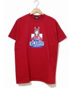 X-LARGE(エクストララージ)の古着「プリントTシャツ」 レッド