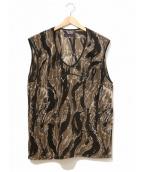 Needles Sportswear(ニードルズスポーツウェア)の古着「warm up piping Vest」|ブラウン