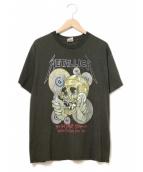 バンドTシャツ(バンドTシャツ)の古着「[古着]90'sMETALLICAバンドTシャツ」|ブラック