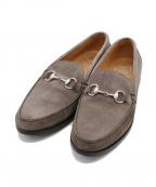 NEPCO FOOTWEAR(ネプコフットウェア)の古着「スウェードビットローファー」|グレー