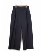 LE CIEL BLEU(ルシェルブルー)の古着「Stitched Dart Wide Pants/ワイドパン」|ブラック