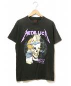 バンドTシャツ(バンドTシャツ)の古着「[古着]80'sMETALLICAバンドTシャツ」|ブラック