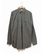 BIG MAC(ビッグマック)の古着「[古着]ブラックシャンブレーシャツ」|ブラック
