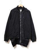 Casely-Hayford(ケイスリーヘイフォード)の古着「レイヤードジャケット」|ブラック