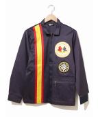 Bob Hadley(ボブハドリー)の古着「[古着]ヴィンテージレーシングジャケット」|パープル