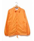 GOOD DESIGN SHOP COMME des GARCONS(グッドデザインショップ コムデギャルソン)の古着「コーチジャケット」|オレンジ