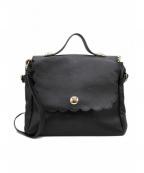 TARA JARMON(タラジャーモン)の古着「スクエアートートバッグ」|ブラック