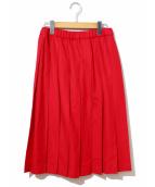 Charpentier de Vaisseau(シャルパンティエ ドゥ ヴェッソ)の古着「ウールプリーツスカート」|レッド