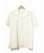 Mastermind JAPAN(マスターマインドジャパン)の古着「バックプリントオープンカラーシャツ」|ホワイト