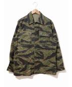 VINTAGE(ヴィンテージ/ビンテージ)の古着「タイガーストライプカモジャケット」|カーキ