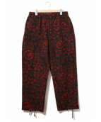 Engineered Garments(エンジニアードガーメンツ)の古着「フローラルパンツ」 レッド