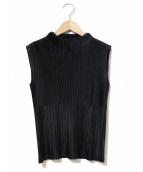 ISSEY MIYAKE(イッセイミヤケ)の古着「プリーツブラウス」|ブラック