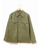 VINTAGE(ヴィンテージ/ビンテージ)の古着「P-53 HBT JACKET / ヘリンボーンツイルジャケ」|カーキ