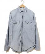 Sears(シアーズ)の古着「[古着]ヴィンテージシャンブレーシャツ」|ブルー