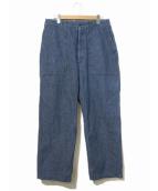 Engineered Garments Workaday(エンジニアードガーメンツワーカーデー)の古着「ベイカーデニムパンツ」|インディゴ