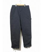Engineered Garments(エンジニアードガーメンツ)の古着「ストライプパンツ」|ネイビー