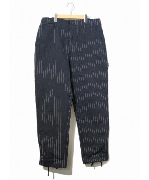 Engineered Garments(エンジニアードガーメンツ)Engineered Garments (エンジニアードガーメンツ) ストライプパンツ ネイビー サイズ:W34 17AW・Logger Pantの古着・服飾アイテム