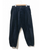 Engineered Garments(エンジニアードガーメンツ)の古着「ベロアジョガーパンツ」|ネイビー