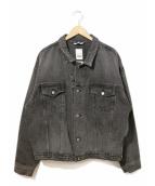 YSTRDYS TMRRW(イエスタディズトゥモロー)の古着「ブラックデニムジャケット」|ブラック