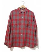 VINTAGE(ヴィンテージ/ビンテージ)の古着「ヴィンテージレーヨンシャツ」|レッド