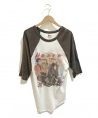 バンドTシャツ(バンドTシャツ)の古着「[古着]HEART 80'sラグランバンドTシャツ」 ホワイト×ブラウン