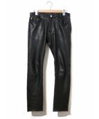 A vontade(アボンタージ)の古着「レザーパンツ」|ブラック