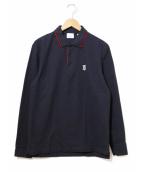 BURBERRY(バーバリー)の古着「ロングスリーブポロシャツ」|ネイビー