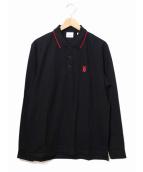 BURBERRY(バーバリー)の古着「ロングスリーブポロシャツ」|ブラック