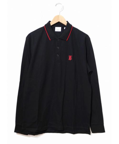 BURBERRY(バーバリー)BURBERRY (バーバリー) ロングスリーブポロシャツ ブラック サイズ:M 19AW Long-sleeve Monogram Motif Polo Shirtの古着・服飾アイテム
