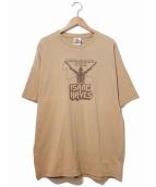 ラップTシャツ(ラップTシャツ)の古着「[古着]90's ISAAC HAYES Tシャツ」 ベージュ