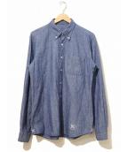 uniform experiment(ユニフォームエクスペリメント)の古着「ボタンダウンシャツ」|インディゴ