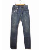 Dior Homme(ディオールオム)の古着「シリコンコーティングデニムパンツ」|インディゴ