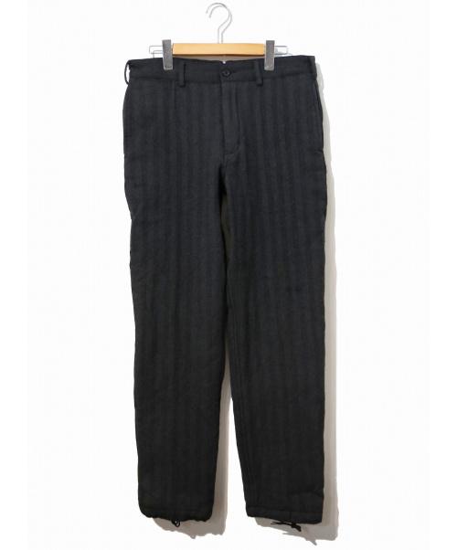 Engineered Garments(エンジニアードガーメンツ)Engineered Garments (エンジニアードガーメンツ) ウールストライプ裾ドローコードパンツ グレー サイズ:W32の古着・服飾アイテム