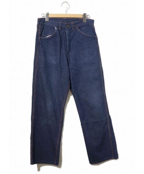 VINTAGE(ヴィンテージ/ビンテージ)VINTAGE (ヴィンテージ/ビンテージ) [古着]ヴィンテージ デニム パンツ インディゴ サイズ:表記なし 50's・ストア系ブランド・GRIPPE ZIPPERの古着・服飾アイテム