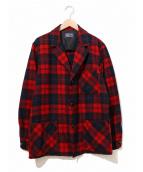 PENDLETON(ペンドルトン)の古着「[古着]クルミボタンテーラードジャケット」|レッド×ネイビー