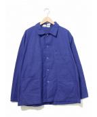 VINTAGE(ヴィンテージ/ビンテージ)の古着「[古着]ユーロフレンチワークジャケット」|ブルー