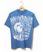 バンドTシャツ(バンドTシャツ)の古着「[古着]chaos uk バンドTシャツ」|ブルー