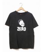 ZERO SKEATBOAD(ゼロ スケートボード)の古着「[古着]90'sスケートTシャツ」|ブラック