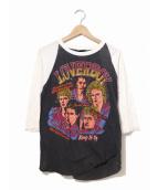 バンドTシャツ(バンドTシャツ)の古着「[古着]80's loverboy ラグランバンドカットソー」|ブラック