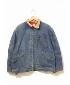 LEE()の古着「裏キルティングデニムジャケット」|インディゴ