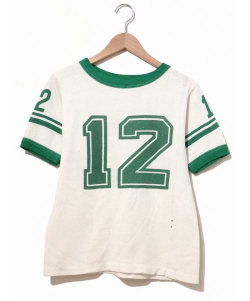 VINTAGE(ヴィンテージ/ビンテージ)VINTAGE (ヴィンテージ) [古着]ヴィンテージS/Sスウェット ホワイト×グリーン サイズ:表記なし 60~70'sの古着・服飾アイテム