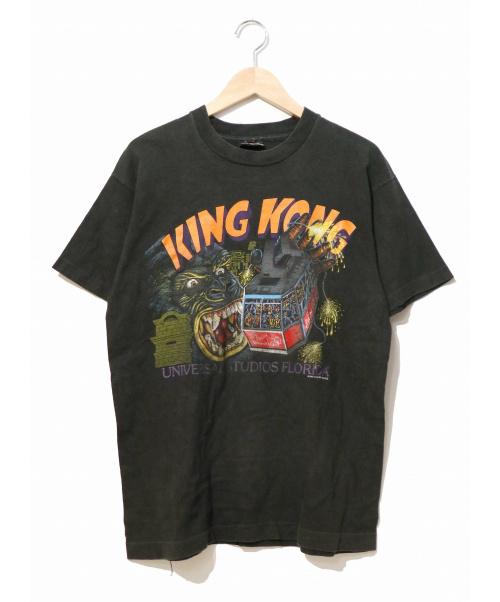 KING KONG(キングコング)KING KONG (キングコング) [古着]80's映画Tシャツ ブラック サイズ:表記なし UNIVERSAL STUDIOSオフィシャル・86年コピーライトの古着・服飾アイテム