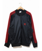adidas(アディダス)の古着「ヴィンテージATPトラックジャケット」|ブラック×レッド
