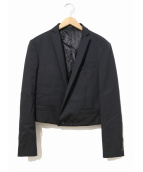 ato(アトウ)の古着「ショートラップジャケット」|ブラック